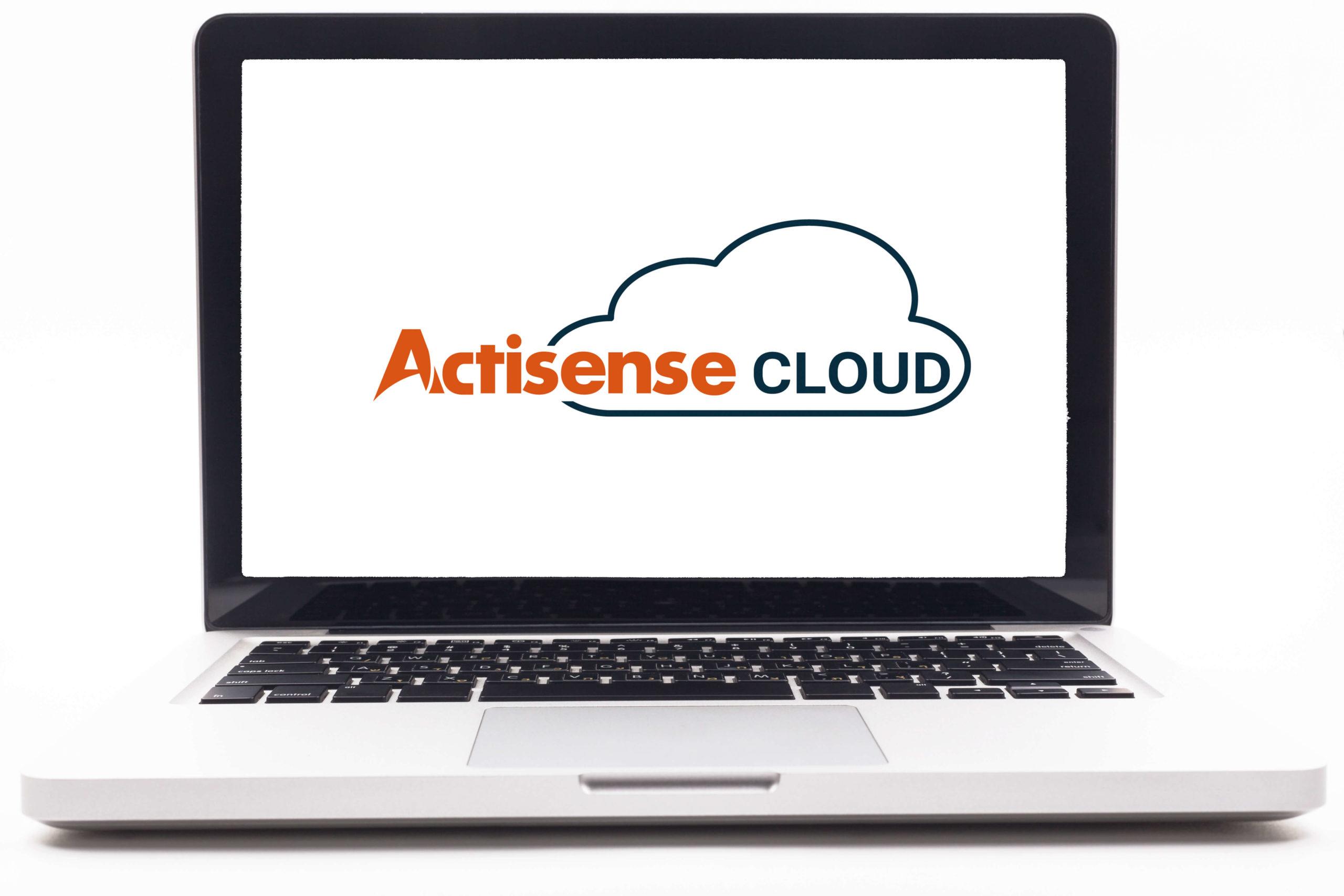 Actisense Cloud logo on laptop screen